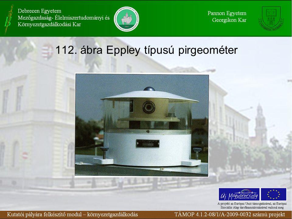 112. ábra Eppley típusú pirgeométer