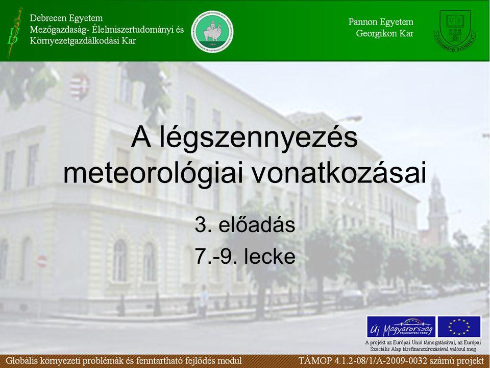 Az energia légköri terjedése -Hővezetés -Áramlás -Sugárzás -Látens hő 7. lecke