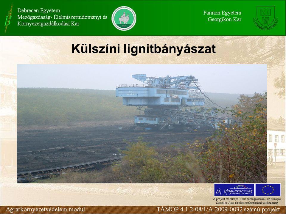 Külszíni lignitbányászat