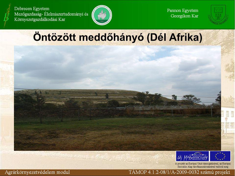 Öntözött meddőhányó (Dél Afrika)