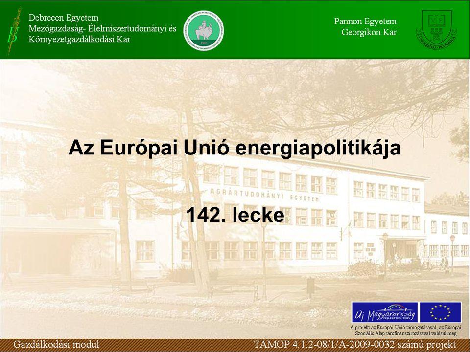 Az Európai Unió energiapolitikája 142. lecke