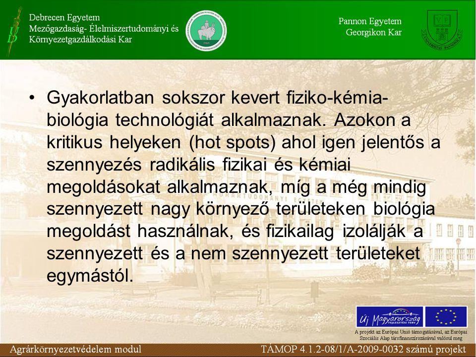 Gyakorlatban sokszor kevert fiziko-kémia- biológia technológiát alkalmaznak.
