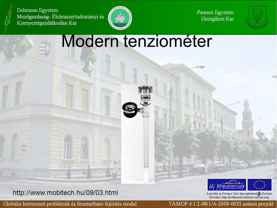 8 Modern tenziométer http://www.mobitech.hu/09/03.html