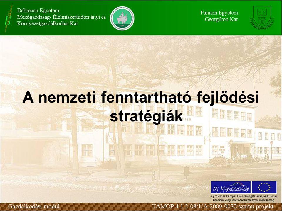 A nemzeti fenntartható fejlődési stratégiák