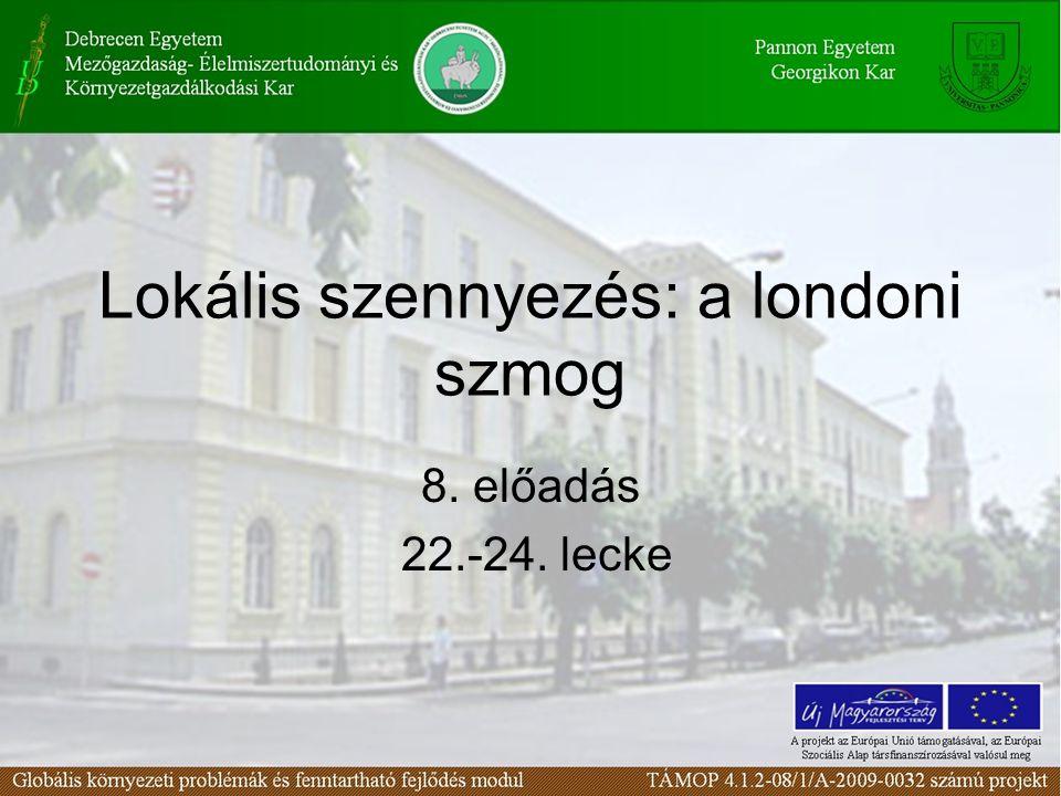 A londoni szmog történeti előzményei 22. lecke