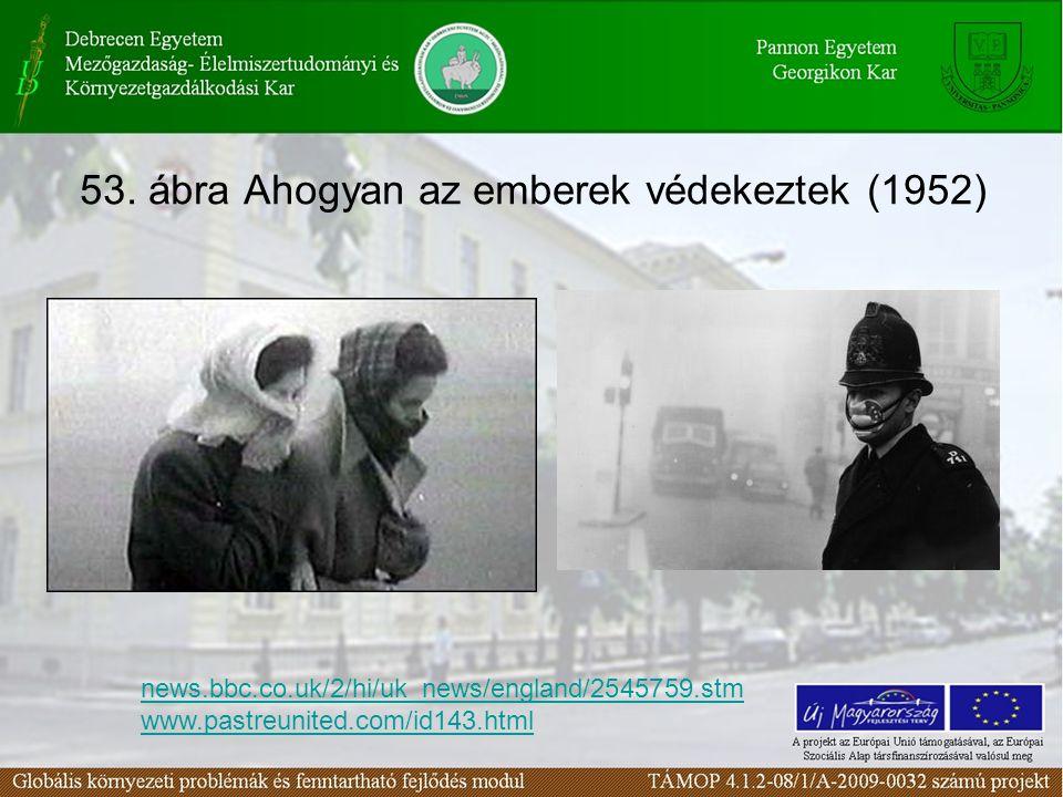 53. ábra Ahogyan az emberek védekeztek (1952) news.bbc.co.uk/2/hi/uk_news/england/2545759.stm www.pastreunited.com/id143.html