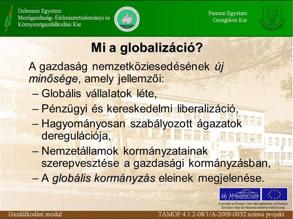 Mi a globalizáció.