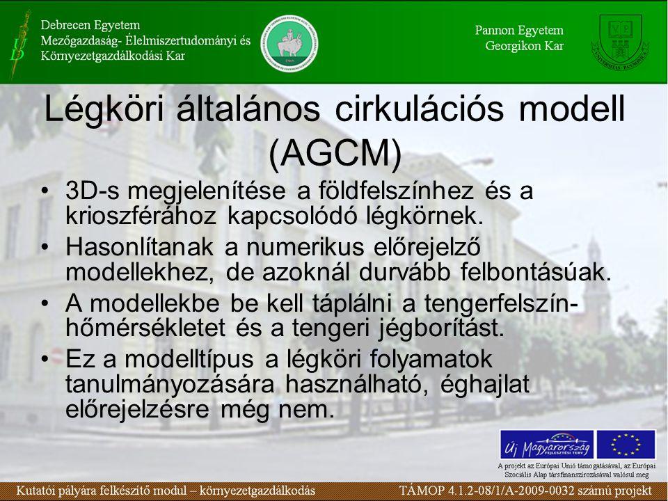 Légköri általános cirkulációs modell (AGCM) 3D-s megjelenítése a földfelszínhez és a krioszférához kapcsolódó légkörnek. Hasonlítanak a numerikus előr