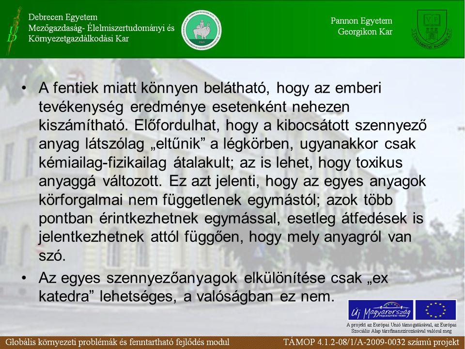 56. ábra A hazai NOx kibocsátás Forrás: KSH évkönyve