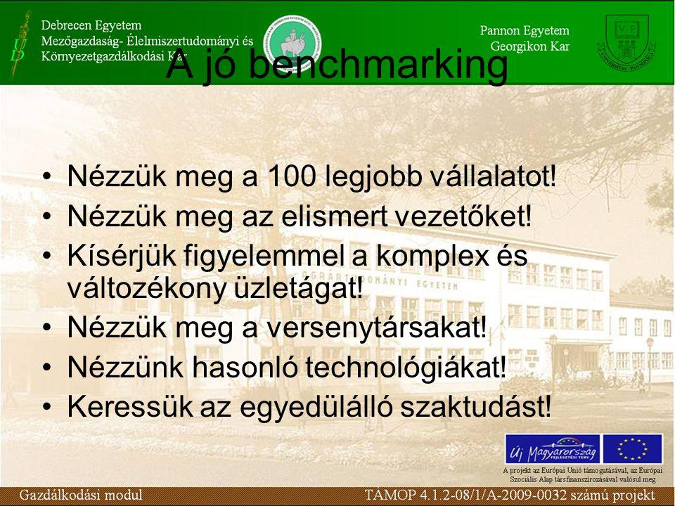 A jó benchmarking Nézzük meg a 100 legjobb vállalatot.