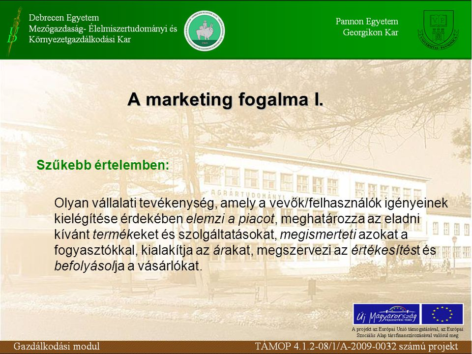 A marketing fogalma I.
