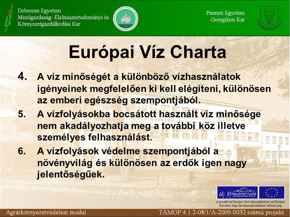 Európai Víz Charta 4.