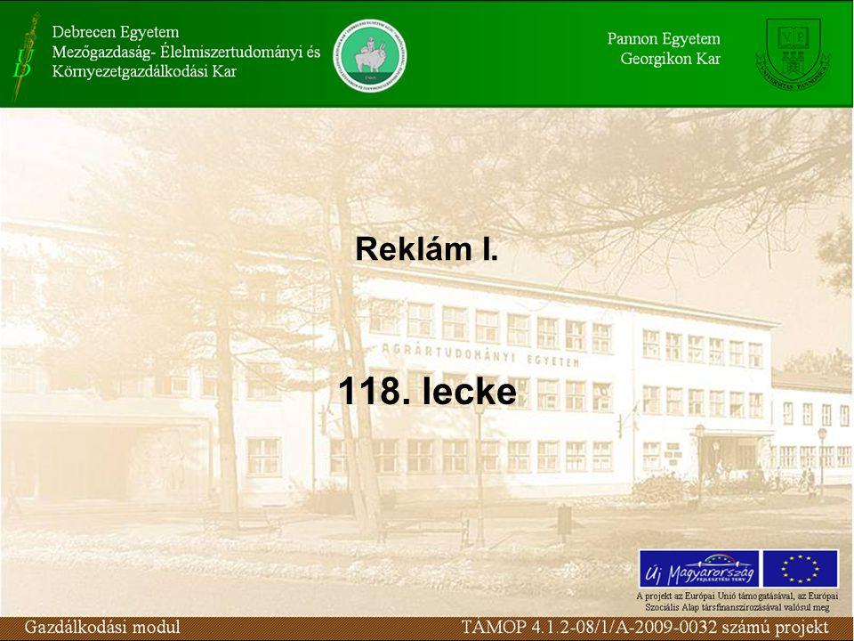 Reklám I. 118. lecke