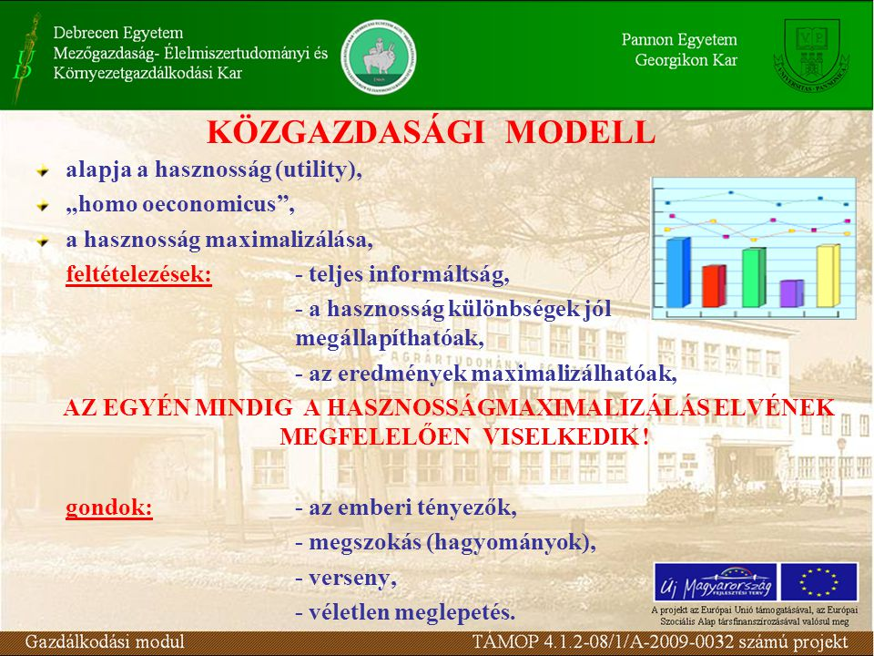 """alapja a hasznosság (utility), """"homo oeconomicus , a hasznosság maximalizálása, feltételezések:- teljes informáltság, - a hasznosság különbségek jól megállapíthatóak, - az eredmények maximalizálhatóak, AZ EGYÉN MINDIG A HASZNOSSÁGMAXIMALIZÁLÁS ELVÉNEK MEGFELELŐEN VISELKEDIK ."""