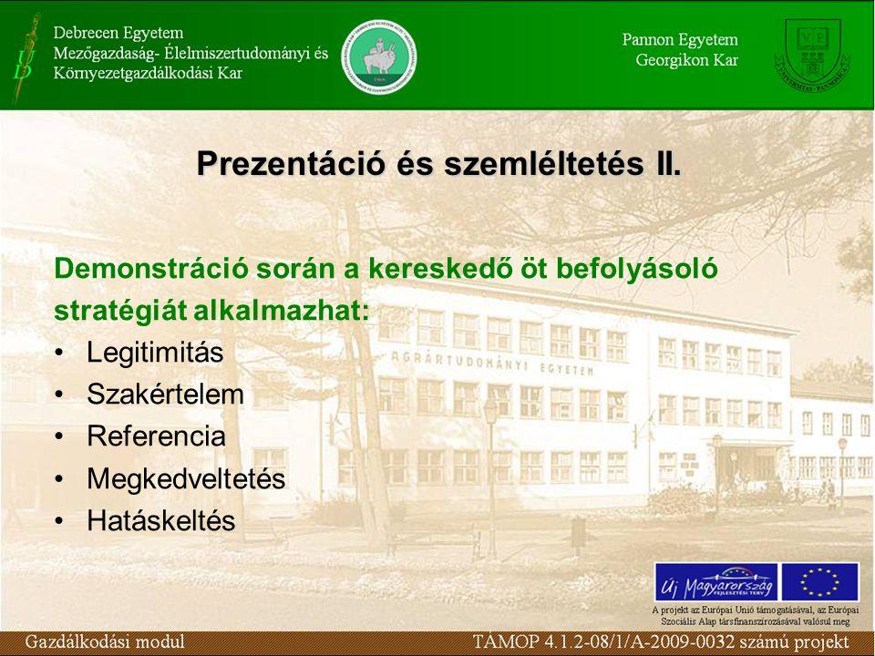 Prezentáció és szemléltetés II.