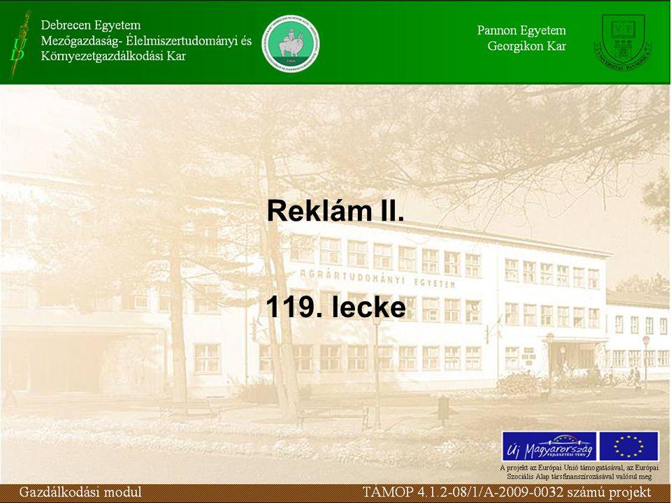 Reklám II. 119. lecke