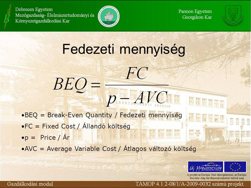 Q FC TR C, R TC VC Fedezeti pont (BEQ)