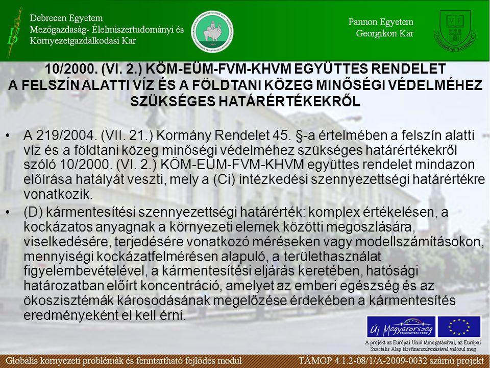 A 219/2004. (VII. 21.) Kormány Rendelet 45.