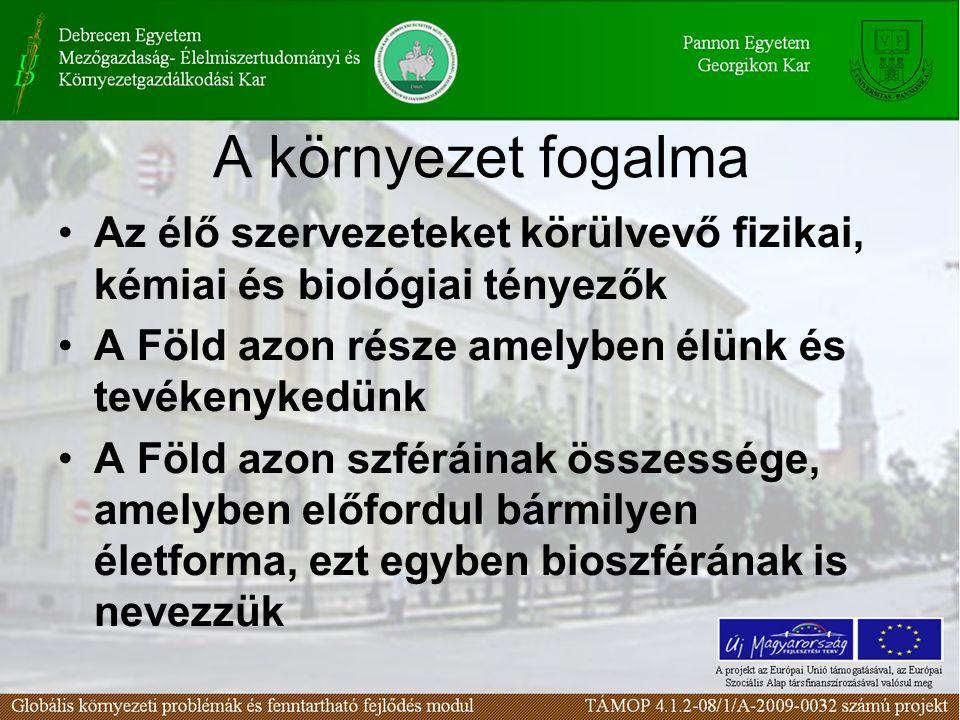 2. Lecke A környezetvédelem alapjai