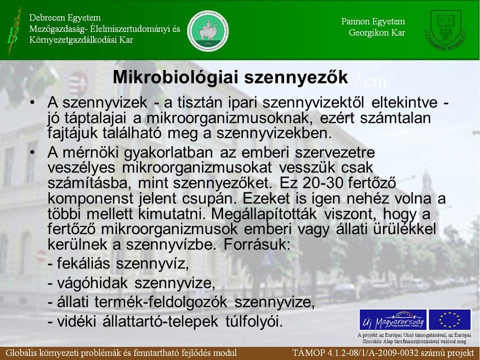 A szennyvizek - a tisztán ipari szennyvizektől eltekintve - jó táptalajai a mikroorganizmusoknak, ezért számtalan fajtájuk található meg a szennyvizekben.