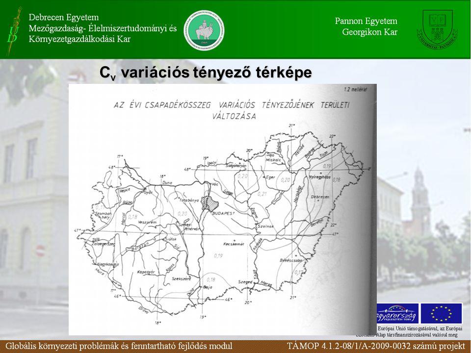 C v variációs tényező térképe