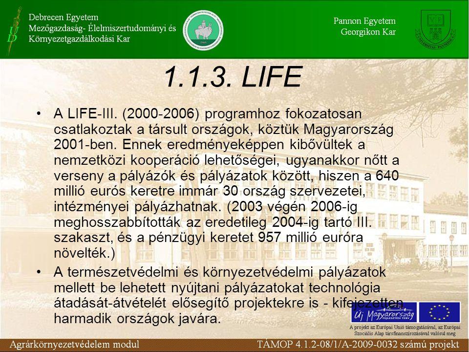 1.1.3. LIFE A LIFE-III.