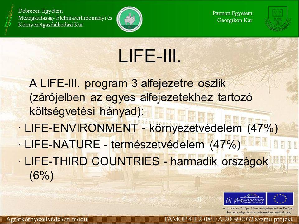 Támogatott tevékenységek ENVIRONMENT - Környezetvédelem - Ezen a kategórián belül a LIFE ipari innovációs és demonstratív projekteket támogat a területhasználat és városi környezet (1.