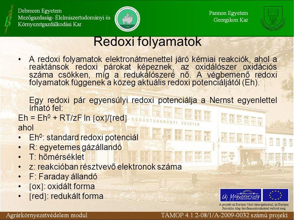 A redoxi folyamatok elektronátmenettel járó kémiai reakciók, ahol a reaktánsok redoxi párokat képeznek, az oxidálószer oxidációs száma csökken, míg a redukálószeré nő.