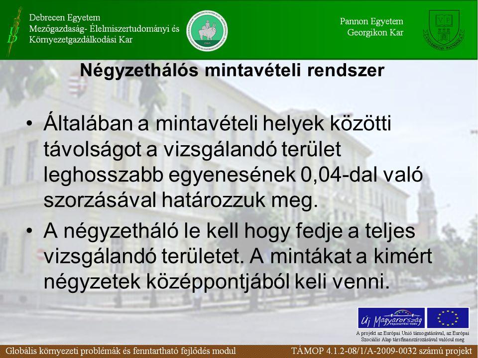 Diffúz szennyezett területek mintázása Talajvíz mintavétel kémiai vizsgálatokhoz Kérdések a leckéhez