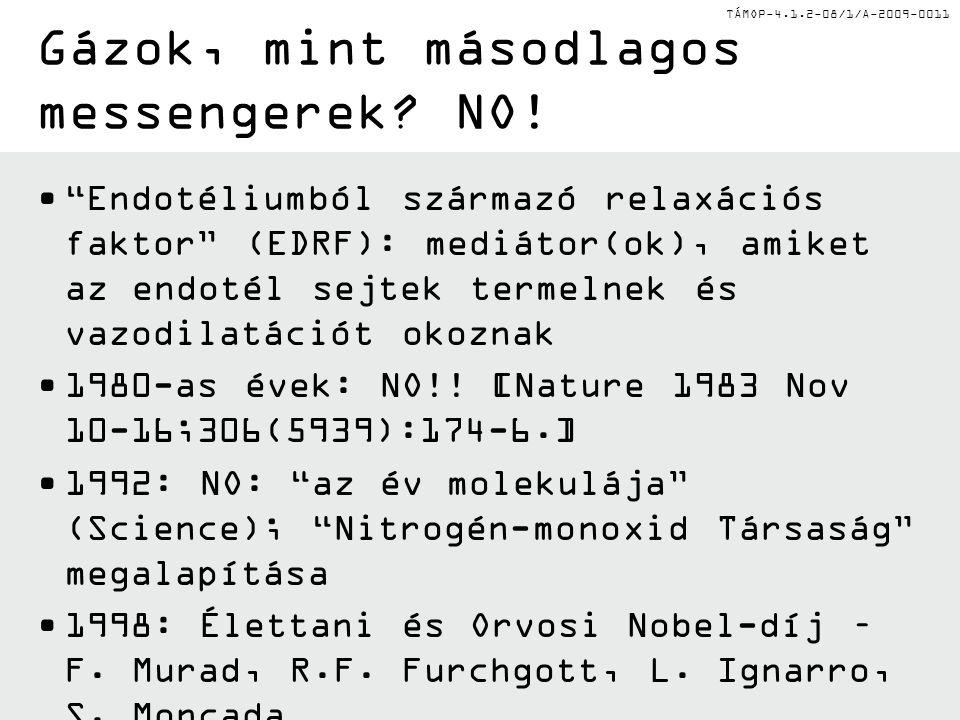 TÁMOP-4.1.2-08/1/A-2009-0011 Gázok, mint másodlagos messengerek.