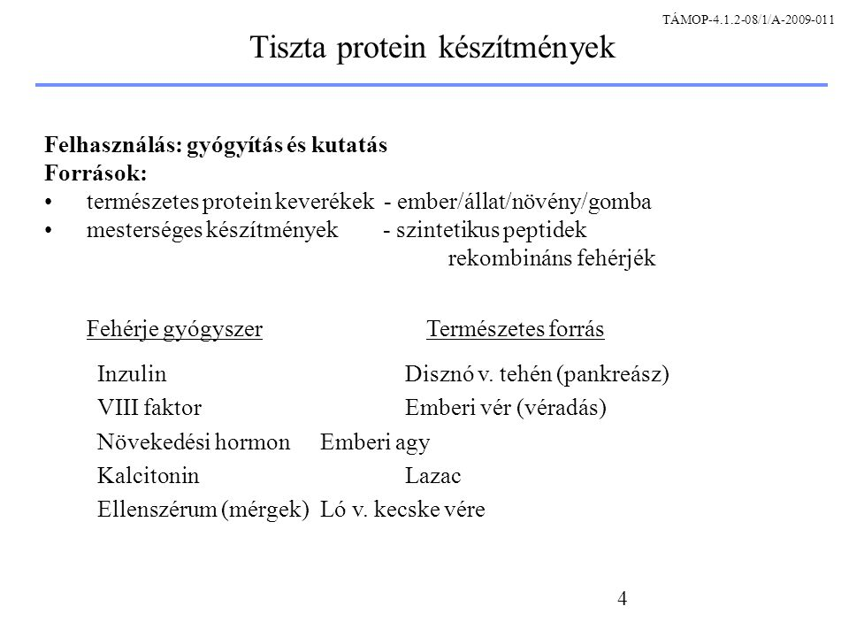 25 A rekombináns protein szintézis fő lépései A gén azonosítása/izolálása A gén klónozása plazmidba Plazmid: expressziós vektor Gazdasejt transzformálása Sejtek szaporítása, fermentáció Plazmid: a transzkripció DNS templátjának forrása In vitro transzkripció In vitro transzláció Protein izolálása és tisztítása In vivoSejtmentes Protein gyógyszerkészítmény előállításaKutatás TÁMOP-4.1.2-08/1/A-2009-011