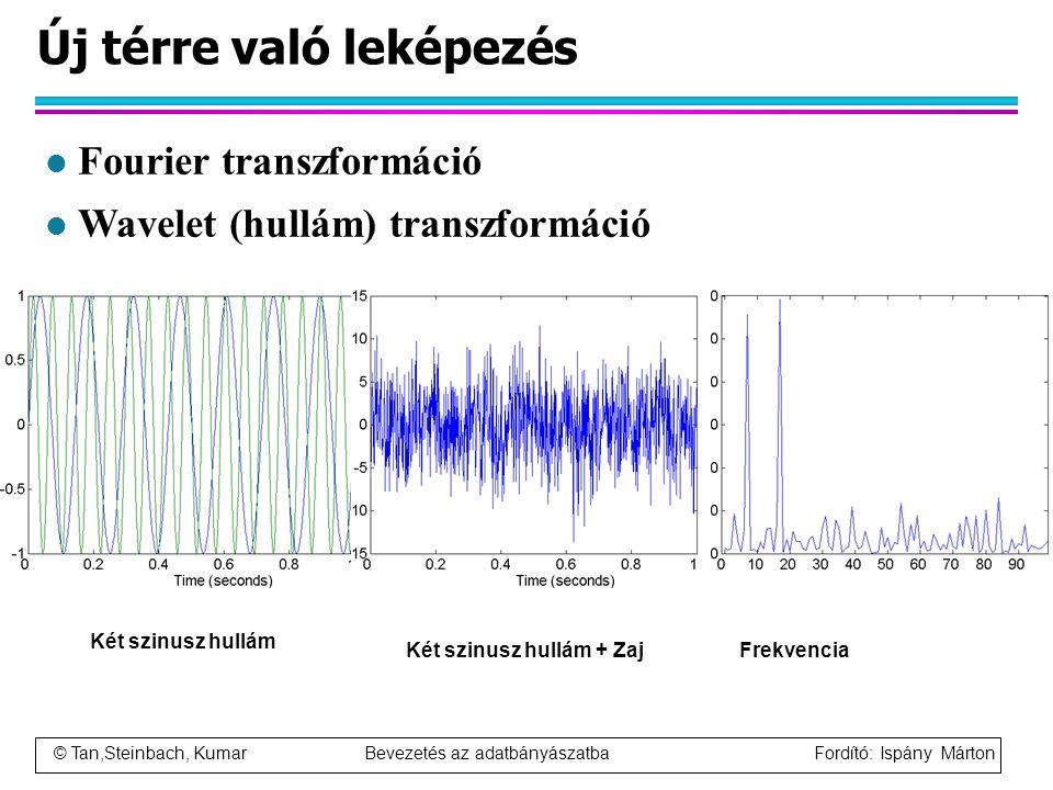 © Tan,Steinbach, Kumar Bevezetés az adatbányászatba Fordító: Ispány Márton Új térre való leképezés Két szinusz hullám Két szinusz hullám + ZajFrekvenc