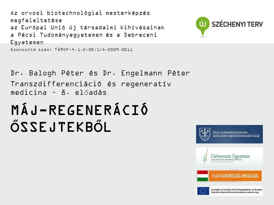 MÁJ-REGENERÁCIÓ ŐSSEJTEKBŐL Az orvosi biotechnológiai mesterképzés megfeleltetése az Európai Unió új társadalmi kihívásainak a Pécsi Tudományegyetemen