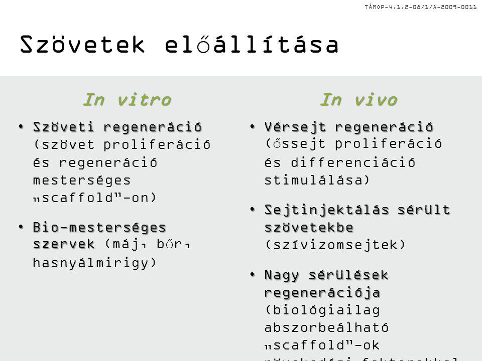 TÁMOP-4.1.2-08/1/A-2009-0011 I.Epiblaszt őssejtek (EpiSC) I.