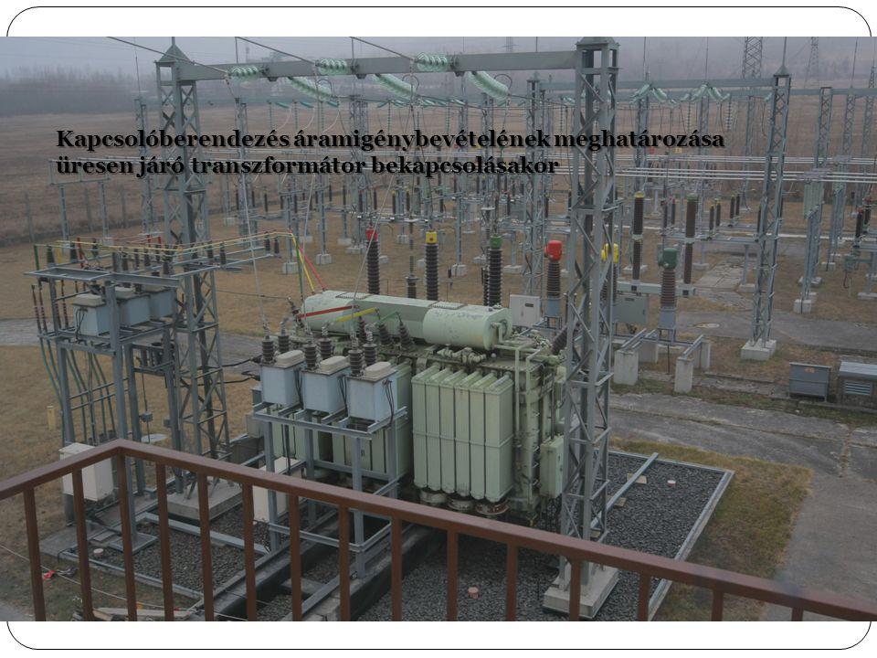 Kapcsolóberendezés áramigénybevételének meghatározása üresen járó transzformátor bekapcsolásakor
