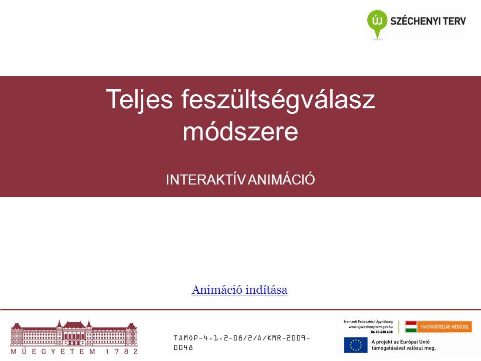 TAMOP-4.1.2-08/2/A/KMR-2009- 0048 INTERAKTÍV ANIMÁCIÓ Teljes feszültségválasz módszere Animáció indítása
