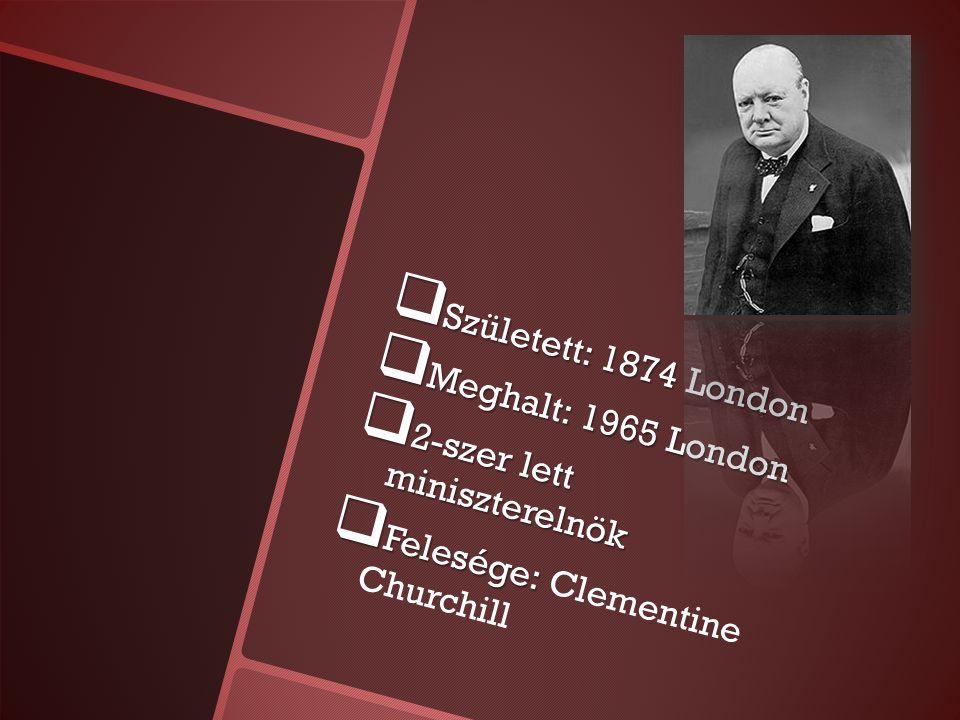 Ifjúkora  Arisztokrata   A családnevét Spencert 1917-ben változtatta Winston Churchillre