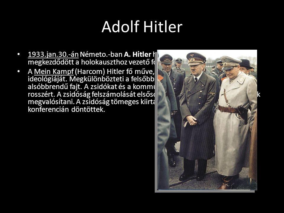 Zsidó üldözés 1933.ápr.1.-én zsidó üzletek elleni bojkottot hirdettek, hogy a németo.-i zsidók gazdasági szerepét gyengítsék.