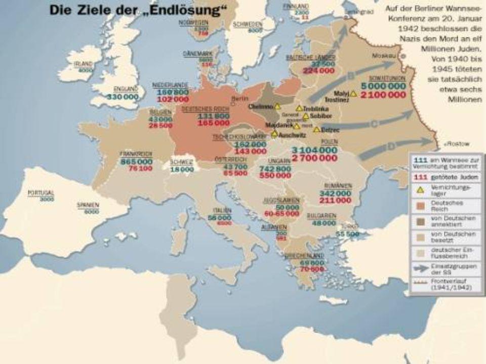 """"""" A zsidókérdés végleges megoldása Az 1930-as évektől a zsidók tömegesen hagyták el Németo.-t."""