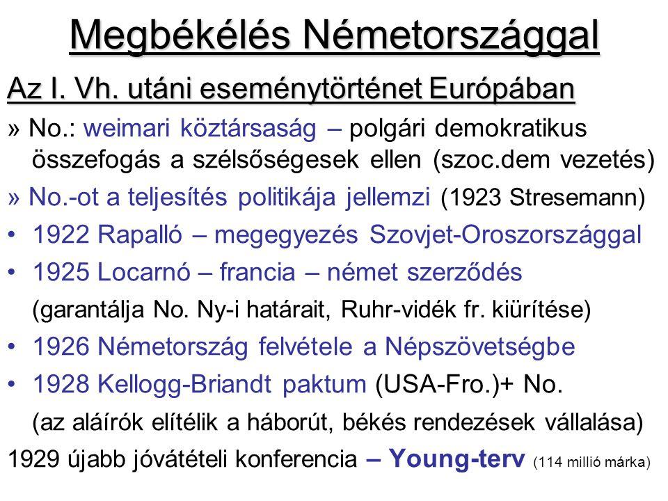 Megbékélés Németországgal Az I. Vh. utáni eseménytörténet Európában » No.: weimari köztársaság – polgári demokratikus összefogás a szélsőségesek ellen