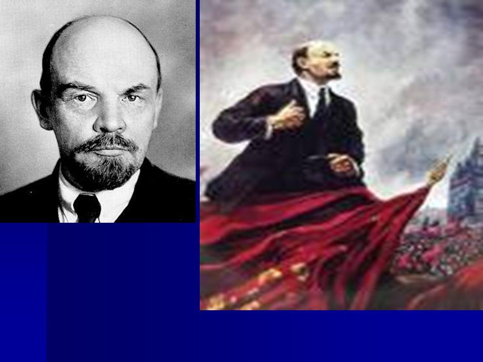 Vezetőjük Vlagyimir Iljics Lenin (eredeti neve Uljanov) – módszere: a forradalom továbbvitele (permanens forradalom, azaz nem a kialakult viszonyok rendezése) Vezetőjük Vlagyimir Iljics Lenin (eredeti neve Uljanov) – módszere: a forradalom továbbvitele (permanens forradalom, azaz nem a kialakult viszonyok rendezése) Ehhez ki akarja használni a szovjetek erejét Ehhez ki akarja használni a szovjetek erejét Mi a szovjet.