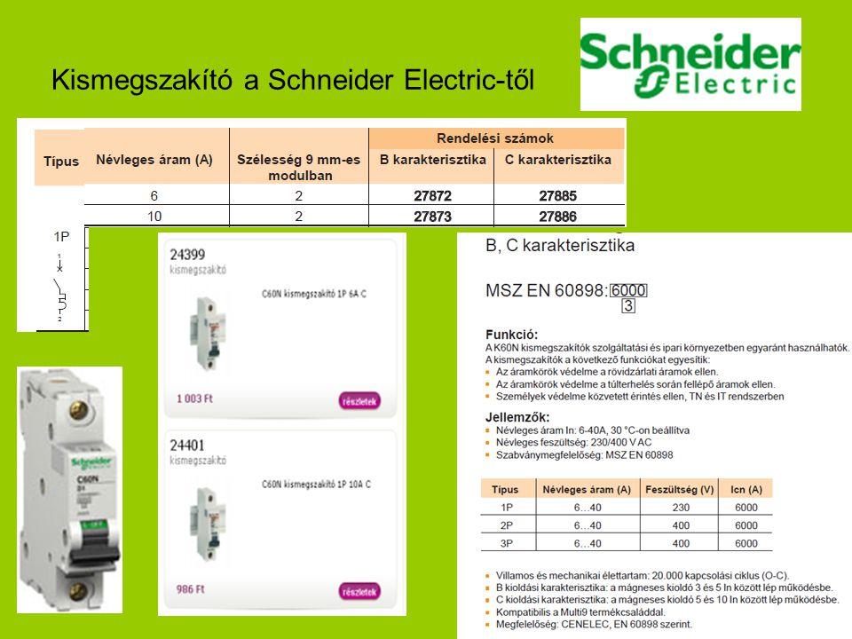 Kismegszakító a Schneider Electric-től