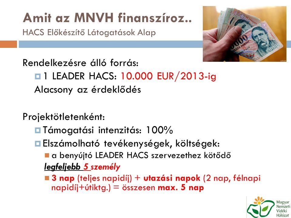 Amit az MNVH finanszíroz..