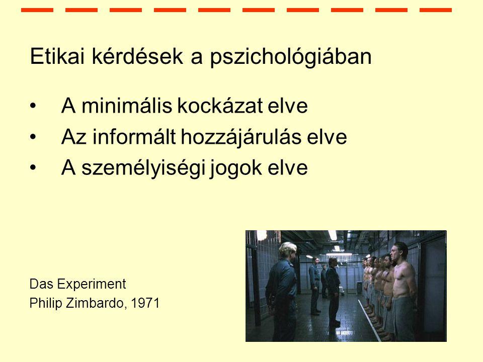 A pszichológia nagy iskolái Kísérleti lélektan (1879) Behaviorizmus (1900-as évek eleje) Alaklélektan (1900-as évek eleje) Pszichoanalízis (Sigmund Freud-tól 1856-1940) Evolúciós pszichológia (1900-as évek 2.