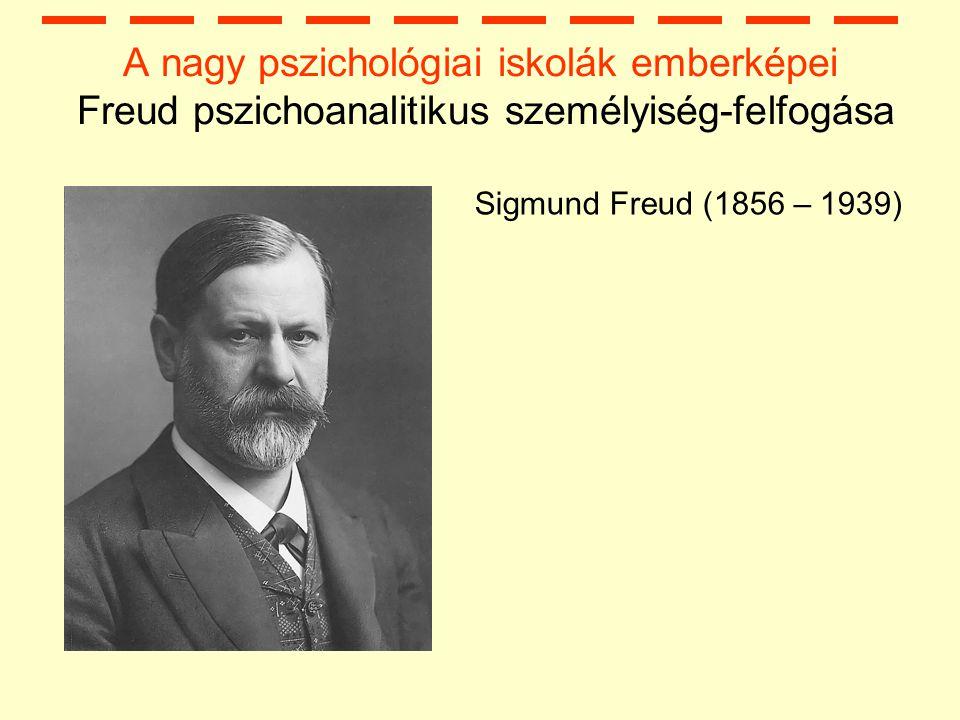A nagy pszichológiai iskolák emberképei Freud pszichoanalitikus személyiség-felfogása Sigmund Freud (1856 – 1939)