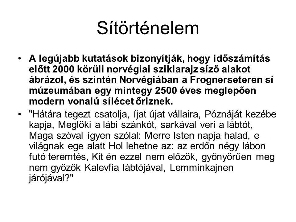 Sítörténelem A legújabb kutatások bizonyítják, hogy időszámítás előtt 2000 körüli norvégiai sziklarajz síző alakot ábrázol, és szintén Norvégiában a F