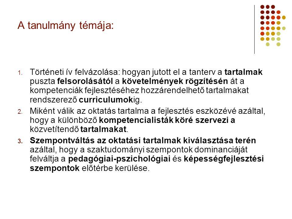 Tananyagközpontú tanterv (19.