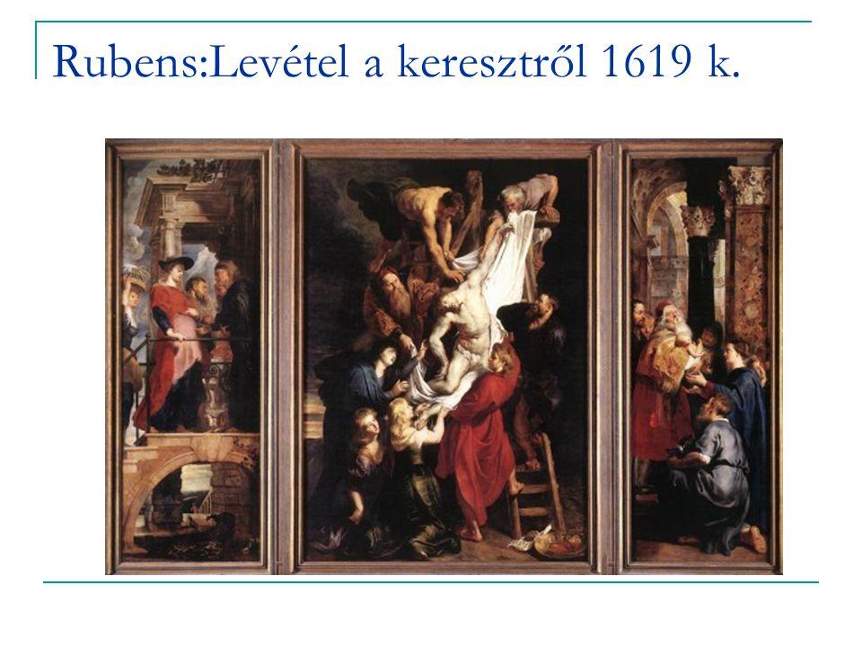 Rubens:Levétel a keresztről 1619 k.