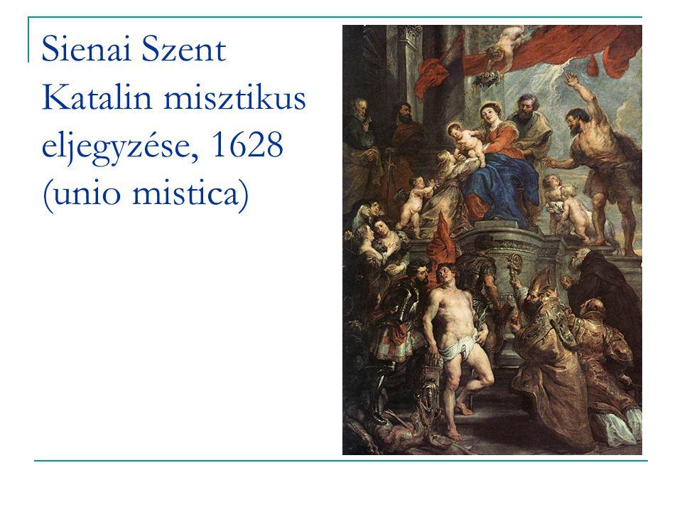 Sienai Szent Katalin misztikus eljegyzése, 1628 (unio mistica)