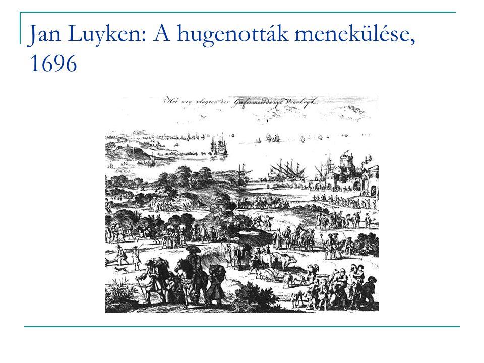 Jan Luyken: A hugenották menekülése, 1696